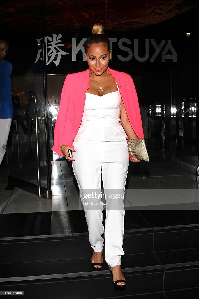 <a gi-track='captionPersonalityLinkClicked' href=/galleries/search?phrase=Adrienne+Bailon&family=editorial&specificpeople=540286 ng-click='$event.stopPropagation()'>Adrienne Bailon</a> as seen on July 10, 2013 in Los Angeles, California.