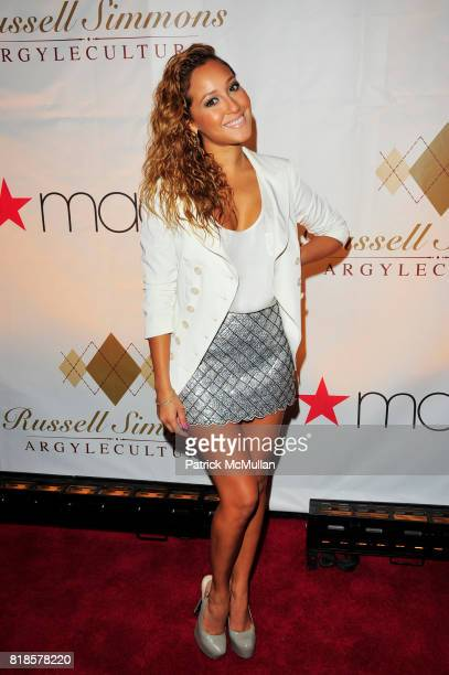 Adrienne Bailon attend RUSSELL SIMMONS MACY'S celebrate RUSSELL SIMMONS ARGYLECULTURE FALL 2010 Menswear Presentation at Ampersand Studios on August...