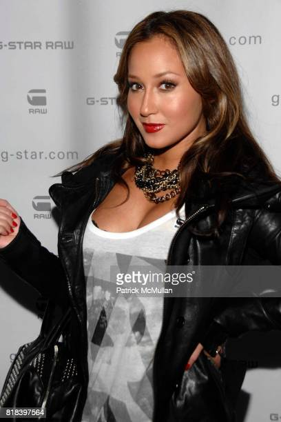 Adrienne Bailon attends GSTAR RAW Presents NY RAW Fall/Winter 2010 Collection Arrivals at Hammerstein Ballroom on February 16 2010 in New York City