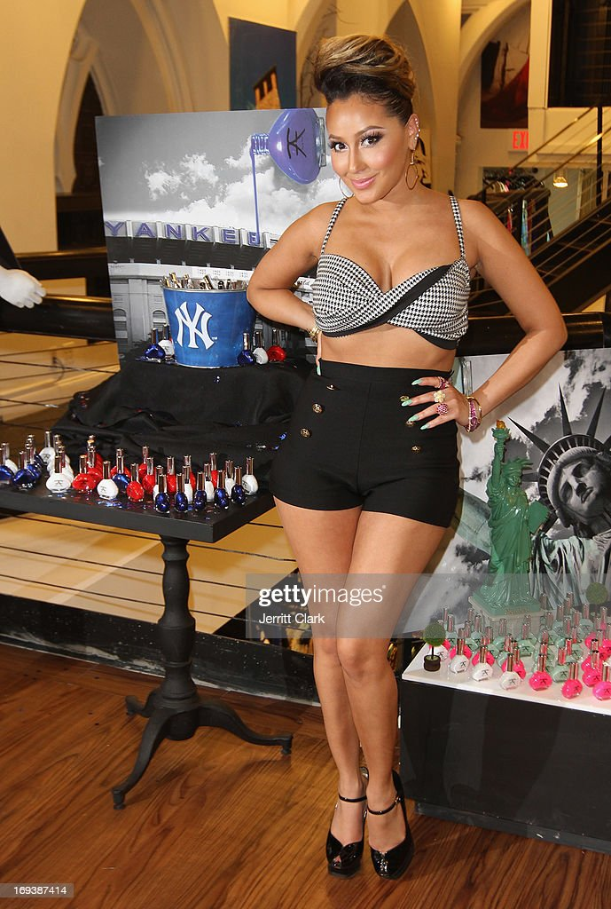 <a gi-track='captionPersonalityLinkClicked' href=/galleries/search?phrase=Adrienne+Bailon&family=editorial&specificpeople=540286 ng-click='$event.stopPropagation()'>Adrienne Bailon</a> attends her Fingertip Fetish Nail Polish Launch at Modalistas on May 23, 2013 in New York City.