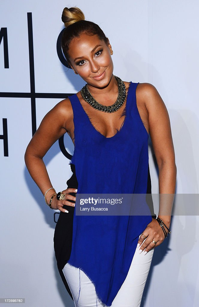 <a gi-track='captionPersonalityLinkClicked' href=/galleries/search?phrase=Adrienne+Bailon&family=editorial&specificpeople=540286 ng-click='$event.stopPropagation()'>Adrienne Bailon</a> attends JAY Z and Samsung Mobile's celebration of the Magna Carta Holy Grail album, available now through a customized app in Google Play and Samsung Apps exclusively for Samsung Galaxy S 4, Galaxy S III and Note II users on July 3, 2013 in Brooklyn City.