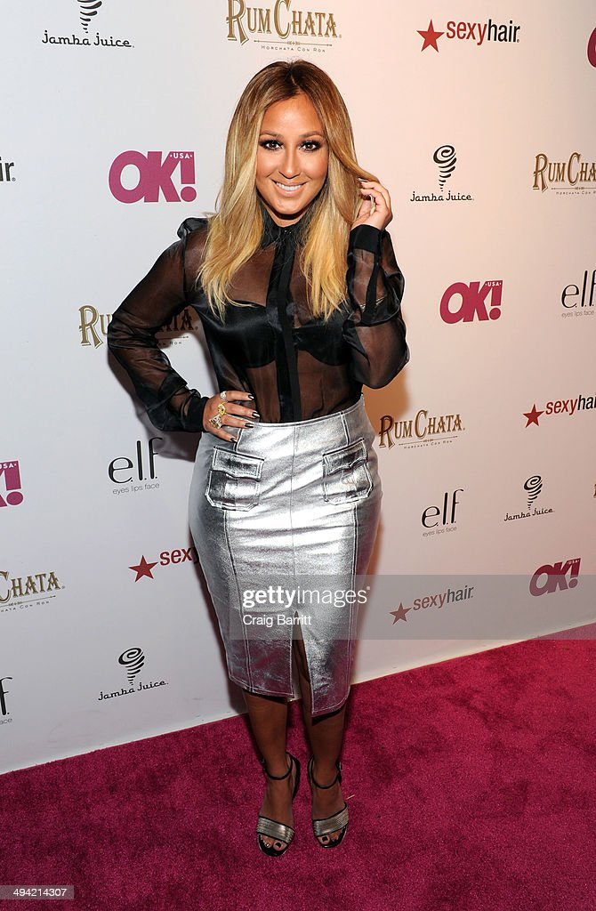 <a gi-track='captionPersonalityLinkClicked' href=/galleries/search?phrase=Adrienne+Bailon&family=editorial&specificpeople=540286 ng-click='$event.stopPropagation()'>Adrienne Bailon</a> attends OK! Magazine's 'So Sexy' NY party at Marquee on May 28, 2014 in New York City.
