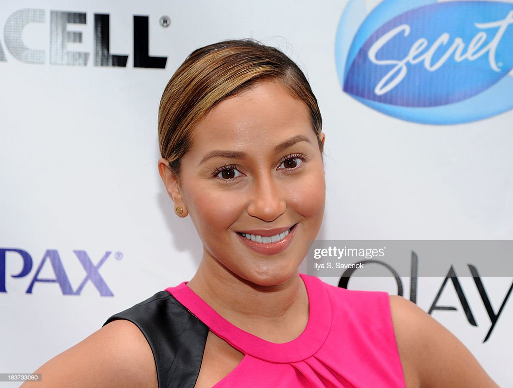 <a gi-track='captionPersonalityLinkClicked' href=/galleries/search?phrase=Adrienne+Bailon&family=editorial&specificpeople=540286 ng-click='$event.stopPropagation()'>Adrienne Bailon</a> attends 'Swim for Relief' Benefiting Hurricane Sandy Recovery - Day 2 at Herald Square on October 9, 2013 in New York City.