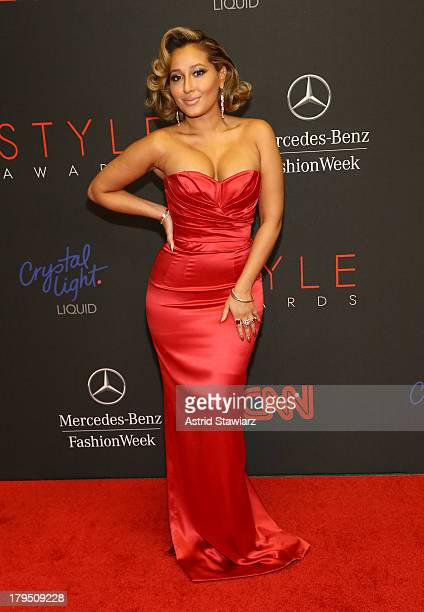 Adrienne Bailon attends the 10th annual Style Awards during Mercedes Benz Fashion Week Spring 2014 at Lincoln Center on September 4 2013 in New York...