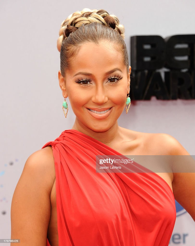 <a gi-track='captionPersonalityLinkClicked' href=/galleries/search?phrase=Adrienne+Bailon&family=editorial&specificpeople=540286 ng-click='$event.stopPropagation()'>Adrienne Bailon</a> attends the 2013 BET Awards at Nokia Theatre L.A. Live on June 30, 2013 in Los Angeles, California.