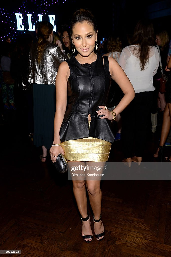 <a gi-track='captionPersonalityLinkClicked' href=/galleries/search?phrase=Adrienne+Bailon&family=editorial&specificpeople=540286 ng-click='$event.stopPropagation()'>Adrienne Bailon</a> attends the 4th Annual ELLE Women in Music Celebration at The Edison Ballroom on April 10, 2013 in New York City.