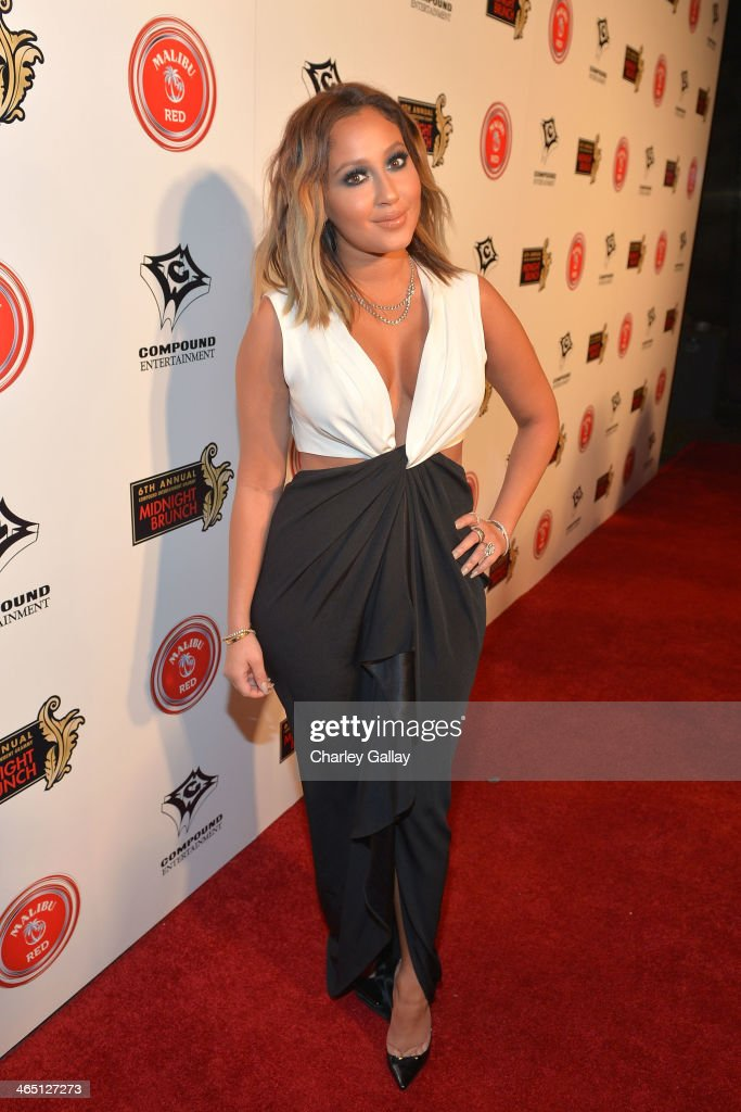<a gi-track='captionPersonalityLinkClicked' href=/galleries/search?phrase=Adrienne+Bailon&family=editorial&specificpeople=540286 ng-click='$event.stopPropagation()'>Adrienne Bailon</a> attends the annual Midnight Grammy Brunch hosted by Ne-Yo and Malibu Red at Lure Nightclub on January 26, 2014 in Hollywood, California.