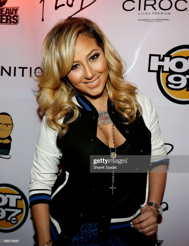 <a gi-track='captionPersonalityLinkClicked' href=/galleries/search?phrase=Adrienne+Bailon&family=editorial&specificpeople=540286 ng-click='$event.stopPropagation()'>Adrienne Bailon</a> attends the birthday celebration of DJ Enuff at The Griffin on January 30, 2013 in New York City.