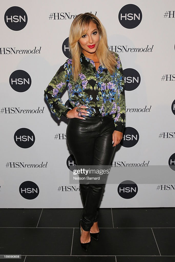 <a gi-track='captionPersonalityLinkClicked' href=/galleries/search?phrase=Adrienne+Bailon&family=editorial&specificpeople=540286 ng-click='$event.stopPropagation()'>Adrienne Bailon</a> attends the celebration of HSN Digital Redesign at Marquee New York on January 16, 2013 in New York City.