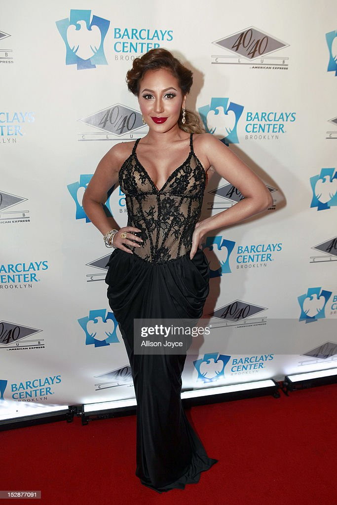 <a gi-track='captionPersonalityLinkClicked' href=/galleries/search?phrase=Adrienne+Bailon&family=editorial&specificpeople=540286 ng-click='$event.stopPropagation()'>Adrienne Bailon</a> attends the grand opening of the 40/40 Club at Barclays Center on September 27, 2012 in the Brooklyn borough of New York City.