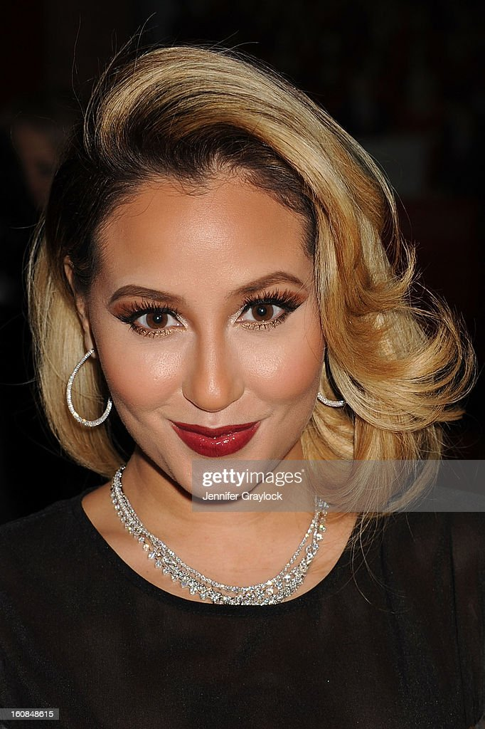 <a gi-track='captionPersonalityLinkClicked' href=/galleries/search?phrase=Adrienne+Bailon&family=editorial&specificpeople=540286 ng-click='$event.stopPropagation()'>Adrienne Bailon</a> attends The Heart Truth 2013 Fashion Show at Hammerstein Ballroom on February 6, 2013 in New York City.