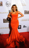 Adrienne Bailon attends the 'I'm In Love With A Church Girl' premiere at California Theatre on October 15 2013 in San Jose California