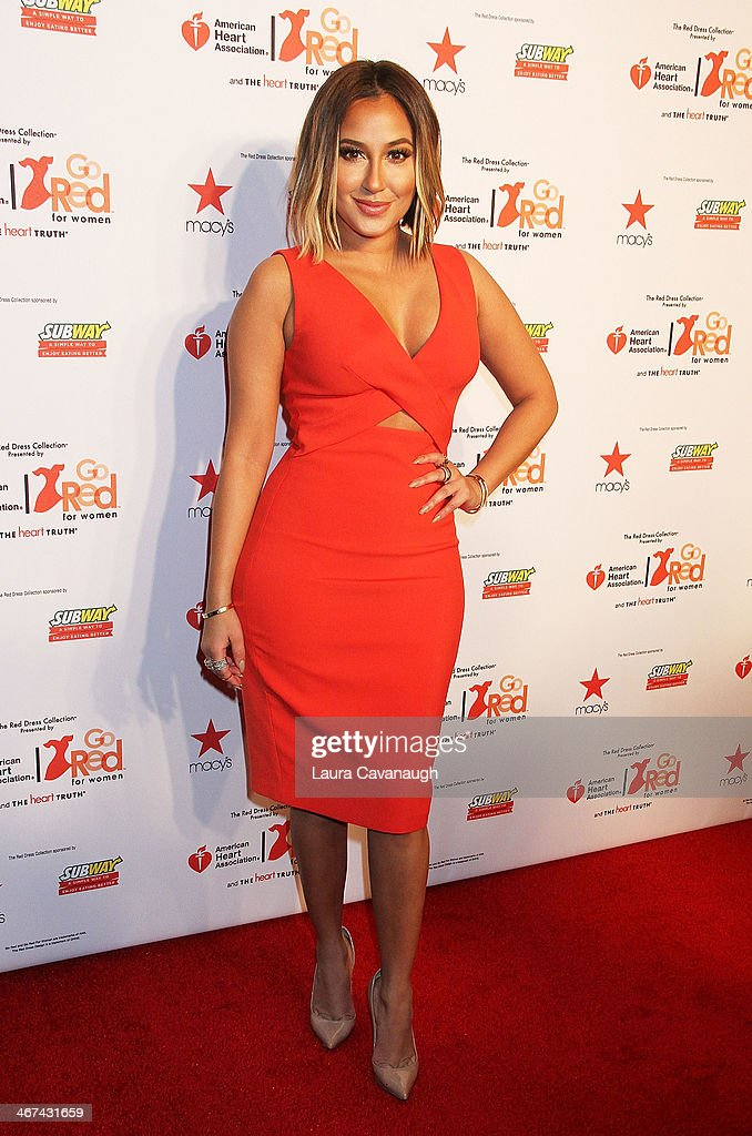 <a gi-track='captionPersonalityLinkClicked' href=/galleries/search?phrase=Adrienne+Bailon&family=editorial&specificpeople=540286 ng-click='$event.stopPropagation()'>Adrienne Bailon</a> attends The Red Dress Fashion Show during Fall 2014 Mercedes - Benz Fashion week on February 6, 2014 in New York City.
