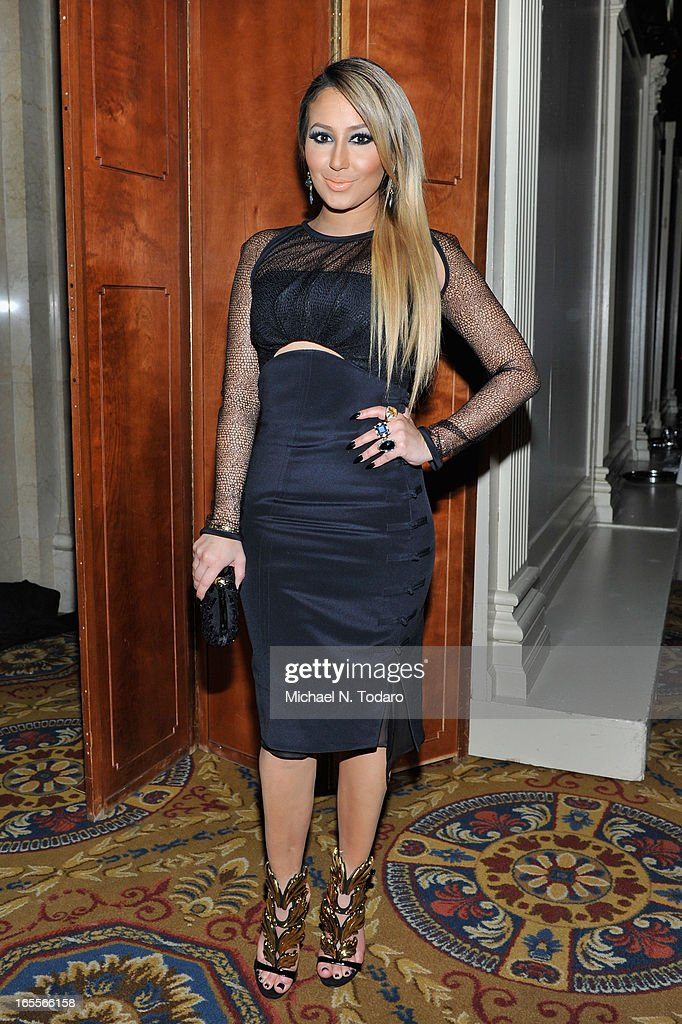 <a gi-track='captionPersonalityLinkClicked' href=/galleries/search?phrase=Adrienne+Bailon&family=editorial&specificpeople=540286 ng-click='$event.stopPropagation()'>Adrienne Bailon</a> attends WWE Superstars for Sandy Relief at Cipriani, Wall Street on April 4, 2013 in New York City.