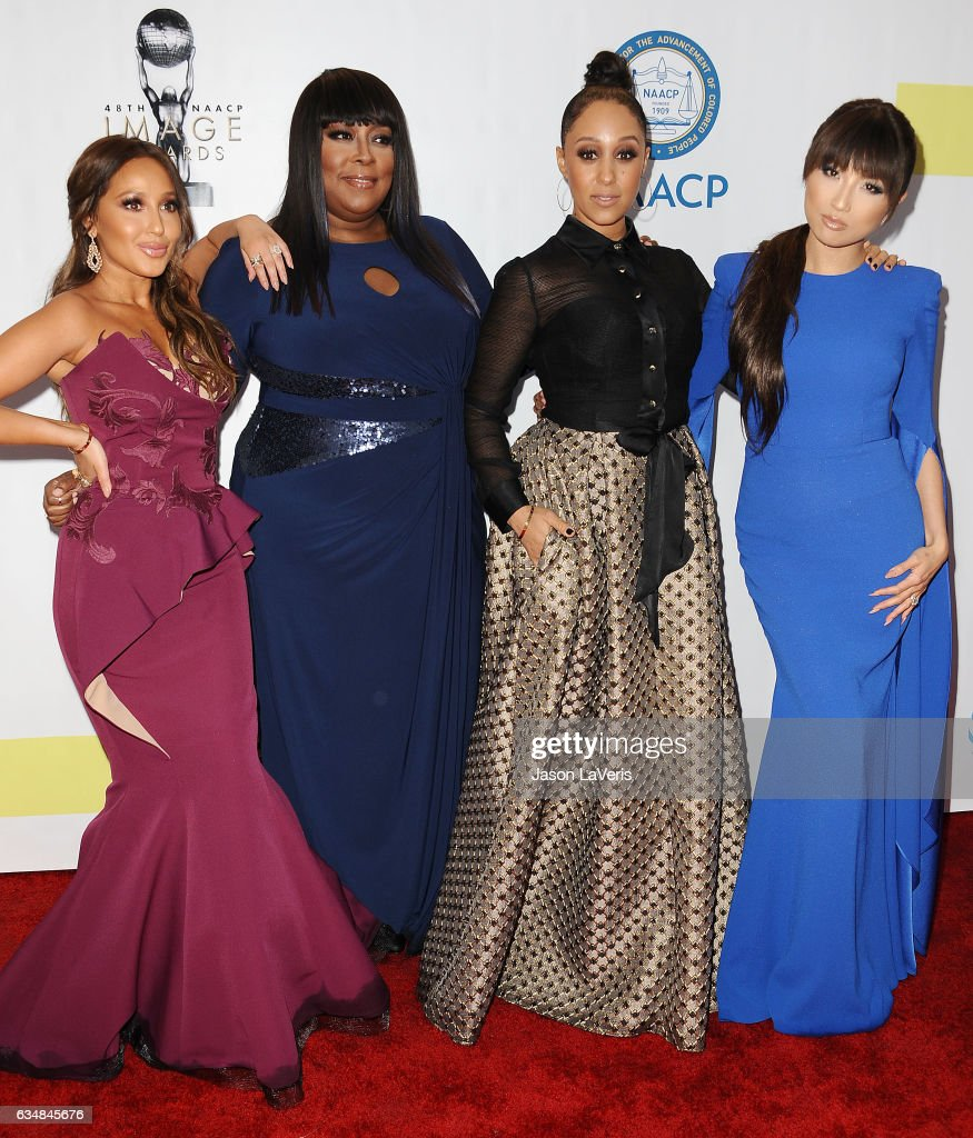 Adrienne Bailon, Loni Love, Tamera Mowry and Jeannie Mai attend the 48th NAACP Image Awards at Pasadena Civic Auditorium on February 11, 2017 in Pasadena, California.