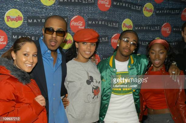 Adrienne Bailon of '3LW' Marques Houston Kiely Williams of '3LW' Omarion and Jessica Benson of '3LW'