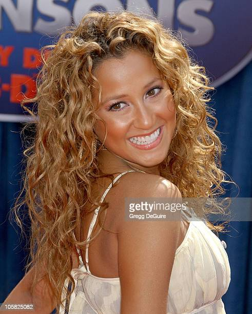 Adrienne Bailon of the Cheetah Girls during 'Meet the Robinsons' Los Angeles Premiere Arrivals at El Capitan Theater in Hollywood California United...