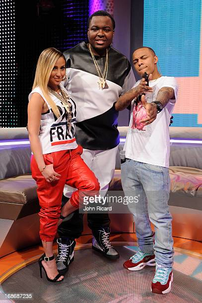 Adrienne Bailon Sean Kingston and Bow Wow at BET's '106 Park' at BET Studios on May 13 2013 in New York City