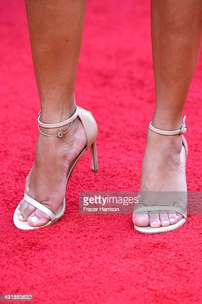 Adrienne Bailon shoe detail attends Telemundo's Latin American Music Awards at the Dolby Theatre on October 8 2015 in Hollywood California