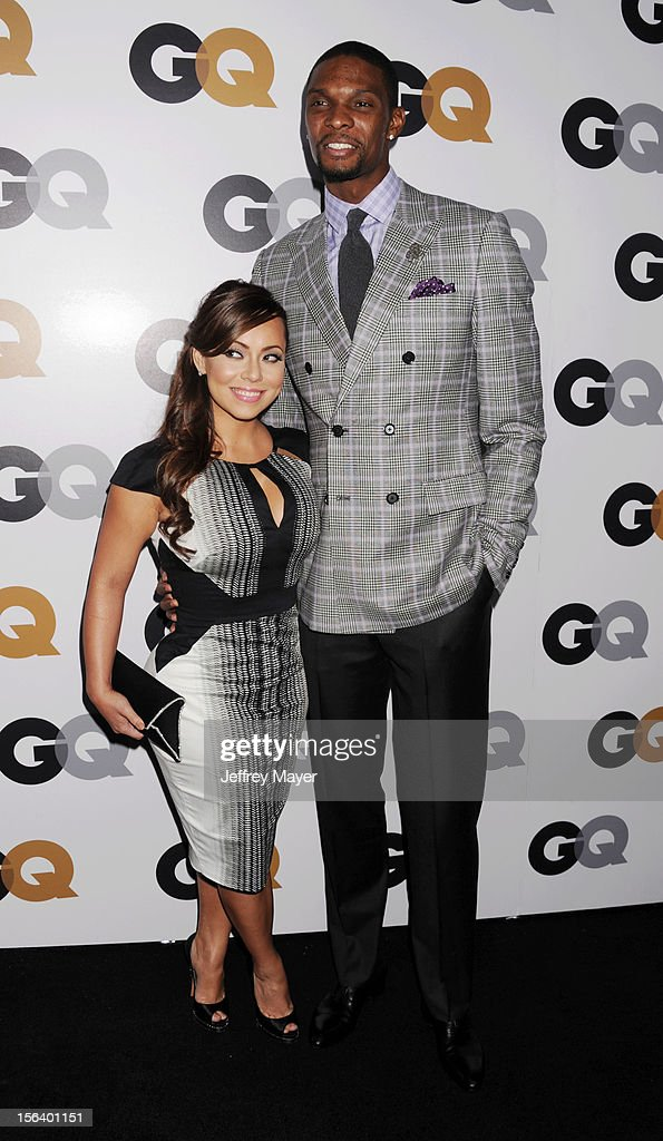 Adrienne Bosh and Chris Bosh arrive at the GQ Men Of The Year Party at Chateau Marmont Hotel on November 13, 2012 in Los Angeles, California.