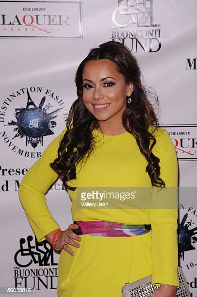 Adrienne Bosh attends Buoniconti Fund to Cure Paralysis' Destination Fashion 2012 at Bal Harbour Shops on November 10 2012 in Miami Florida