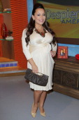 Adrienne Bosh visits Univision's 'Despierta America' morning show at Univision Headquarters on September 26 2013 in Miami Florida