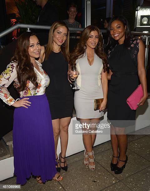 MIAMI FL NOVEMBER 20 Adrienne BoshMary FloydLarsa Pippen and Gabrielle Union attends the Haute Living Miami's 'Woman Of Substance Woman Of The Year'...