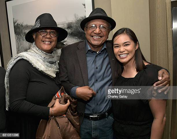 Adrienne Brown Norman Disney Legend Floyd Norman and storyboard artist Josie Trinidad attend a reception to honor ZOOTOPIA screenwriters Jared Bush...
