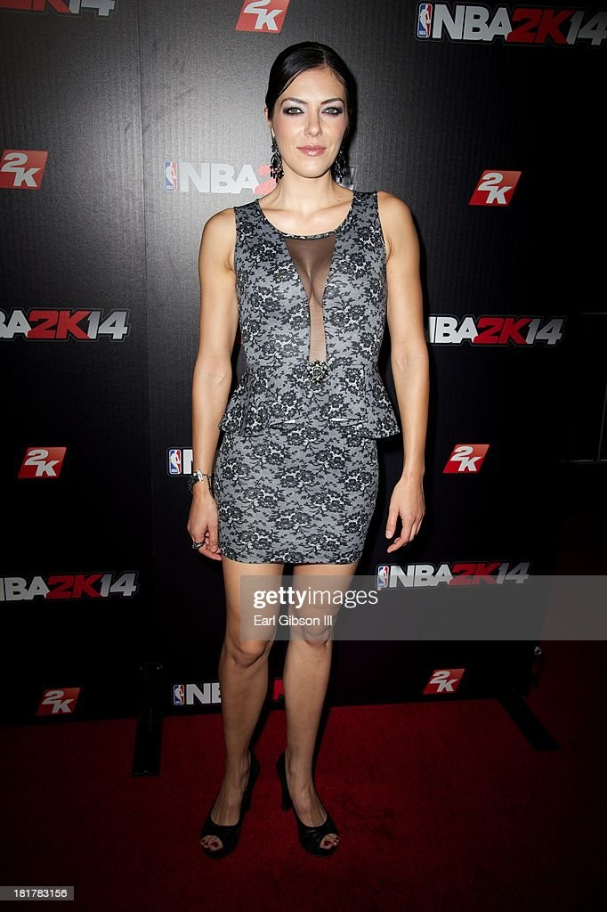 Adrienne Curry attends the NBA2K14 premiere at Greystone Manor Supperclub on September 24, 2013 in West Hollywood, California.