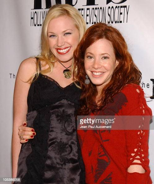 Adrienne Frantz and Amy Davidson during 2nd Annual 'Young Hollywood' Holiday Party Presented by the Junior Hollywood Radio Television Society at...