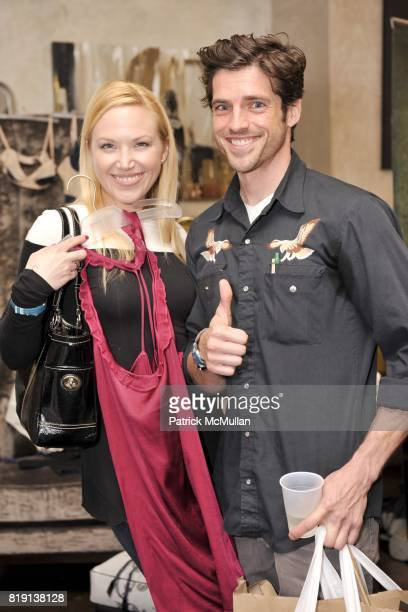 Adrienne Frantz and Scott Bailey attend Silver Spoon Presents Oscar Weekend Red Cross Event For Haiti Relief at Interior Illusions on March 3 2010 in...