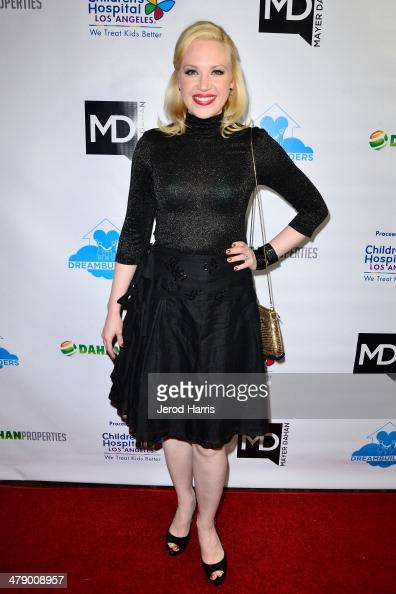 Adrienne Frantz arrives at the Dream Builders Project's 'A Brighter Future For Children' benefit at HOME on March 15 2014 in Beverly Hills California