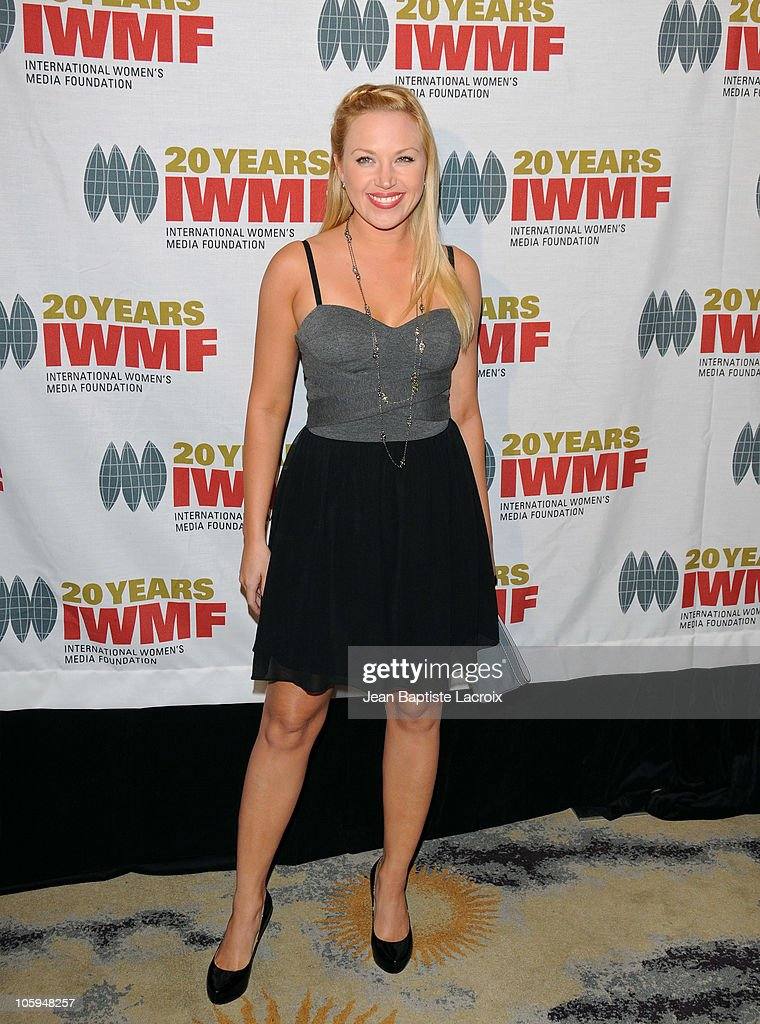 Adrienne Frantz arrives at The International Women's Media Foundation's 'Courage In Journalism' awards held at Beverly Hills Hotel on October 21, 2010 in Beverly Hills, California.