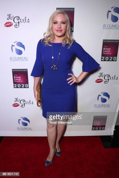 Adrienne Frantz attends National Breast Cancer Coalition Fund's 17th Annual Les Girls Cabaret at Avalon Hollywood on October 15 2017 in Los Angeles...
