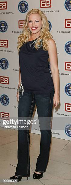 Adrienne Frantz attends the Guinness World Record's official validation of 'The Bold The Beautiful' CBS Studios on May 18 2010 in Los Angeles...