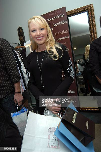 Adrienne Frantz during TMG Luxury Suite 2007 Day 1 at Luxe Hotel in Beverly Hills California United States