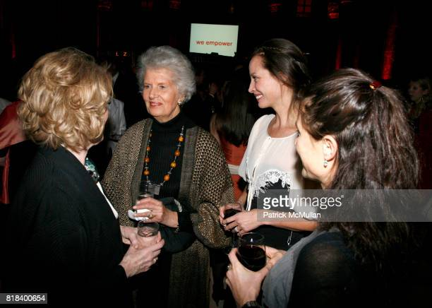 Adrienne Germaine Joan Dunlop Christy Turlington and Dallas Rexler attend INTERNATIONAL WOMEN'S HEALTH COALITION Annual Gala at Cipriani 42nd St on...