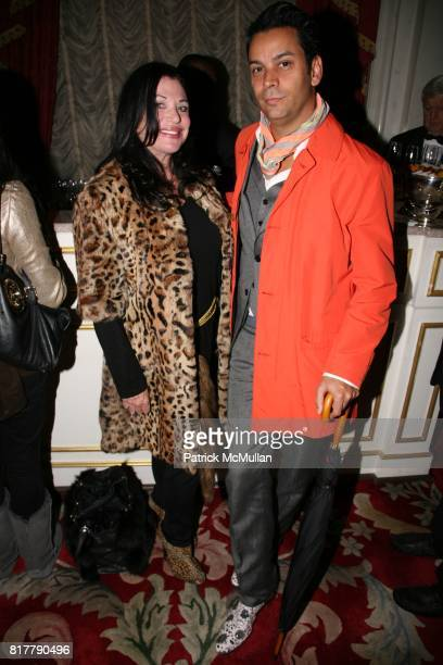 Adrienne Landau and James Aguiar attend CFDA and ASSOULINE celebrate AMERICAN FASHION DESIGNERS AT HOME at The St Regis Hotel on October 14 2010 in...