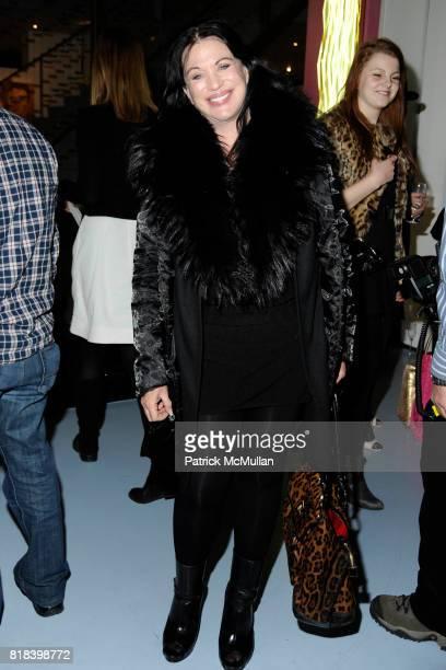 Adrienne Landau attends DVF Art Ortenberg Celebrate the Liz Claiborne Fashion Scholarship at DVF Studio on February 3 2010 in New York City