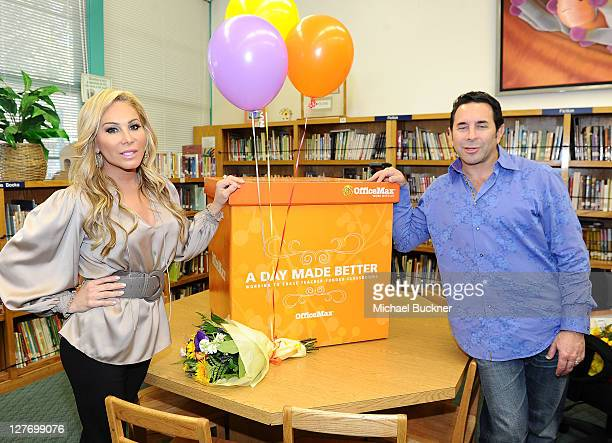 Adrienne Maloof and her husband Dr Paul Nassif join OfficeMax in surprising Kester Elementary school teacher Rachel Mahler with $1000 in classroom...