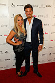 Adrienne Maloof and Jacob Busch arrive at the Star Magazine Scene Stealers Event at Lure on October 9 2014 in Hollywood California
