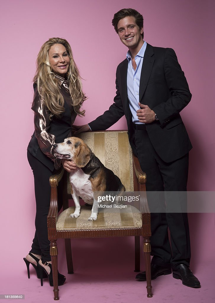 Adrienne Maloof and Jacob Busch pose for a portrait at Mark Kearney Group - 'Iced Out' Luxury Emmy Suite - Inside - Day 1 on September 19, 2013 in Los Angeles, California.