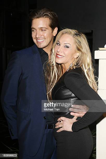 Adrienne Maloof and new boyfriend Jacob Busch arrive at Life Style presents 'Hollywood In Bright Pink' held at Bagatelle on October 9 2013 in Los...