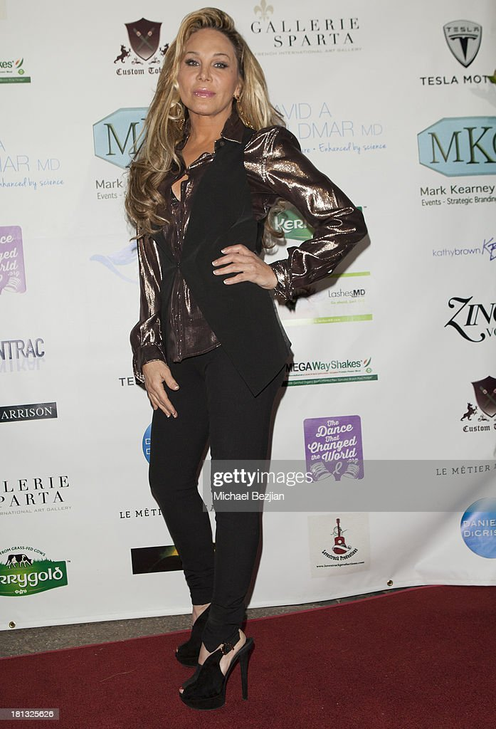 Adrienne Maloof arrives at Mark Kearney Group - 'Iced Out' Luxury Emmy Suite - Inside - Day 1 on September 19, 2013 in Los Angeles, California.