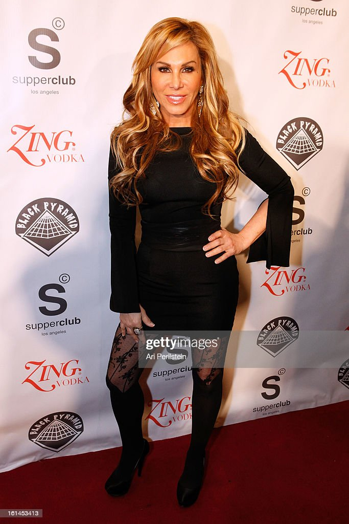 Adrienne Maloof arrives at Post Grammy Party At Supperclub Hosted By Chris Brown And ZING Vodka Los Angeles on February 10, 2013 in Los Angeles, California.