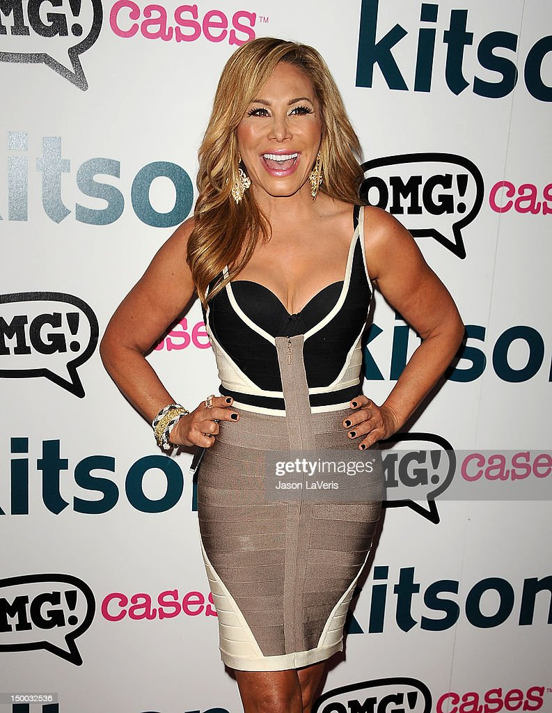 Adrienne Maloof attends the launch party for 'OMG Cases' at Kitson on Roberston on August 8, 2012 in Beverly Hills, California.