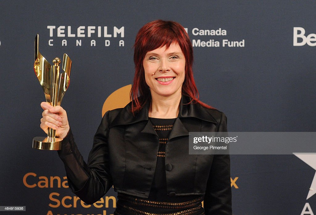 Adrienne Mitchell poses in the press room at the 2015 Canadian Screen Awards at the Four Seasons Centre for the Performing Arts on March 1, 2015 in Toronto, Canada.