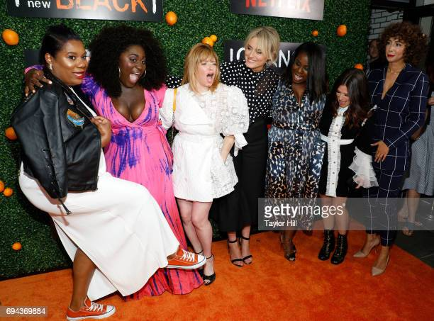 Adrienne Moore Danielle Brooks Natasha Lyonne Taylor Schilling Uzo Aduba Yael Stone and Jackie Cruz attend the Season 5 celebration of 'Orange is the...