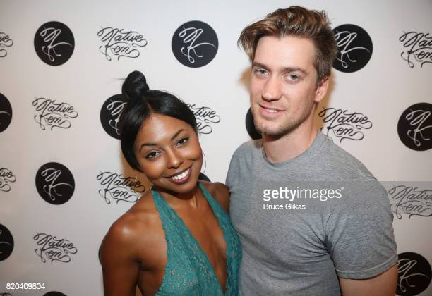 Adrienne Warren and Rafael Casal pose at the Native Ken Eyewear NYC Launch Party at Native Ken on July 20 2017 in New York City