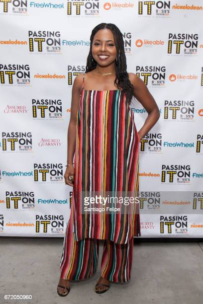 Adrienne Warren attends 2017 Rosie's Theater Kids' Pass It On Evening at The Kaye Playhouse at Hunter College on April 23 2017 in New York City